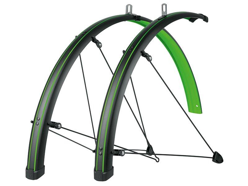 """Крылья велосипедные SKS Bluemels STINGRAY, 45 мм, 28"""", зелёные, 11435"""