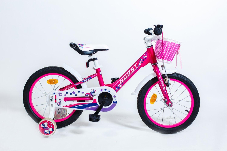 """Детский велосипед HORST Nixe 16"""" 2018 (Рама: 9"""" (Рост: 100 - 125 см), Цвет: розовый/белый)"""