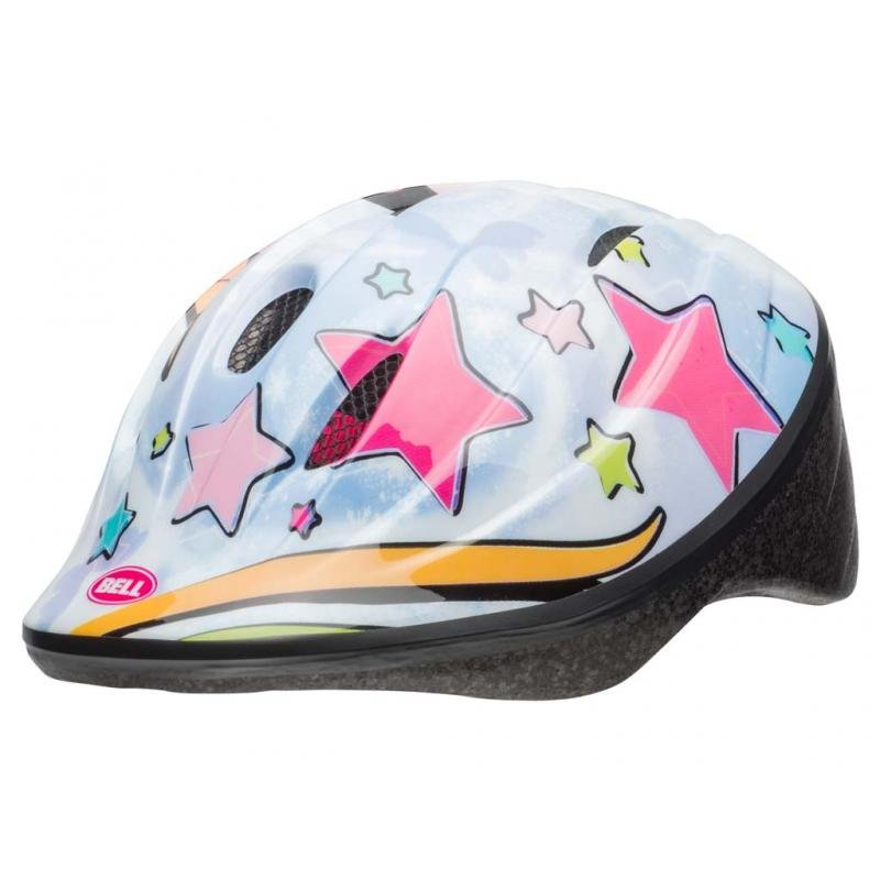 Шлем детский велосипедный Bell 18 BELLINO, бело/розовый единорог (Размер: XS)