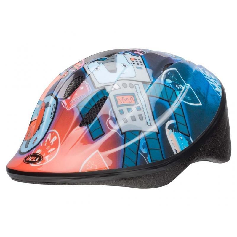 Шлем детский велосипедный Bell 18 BELLINO, глянцевый синий робот (Размер: XS)