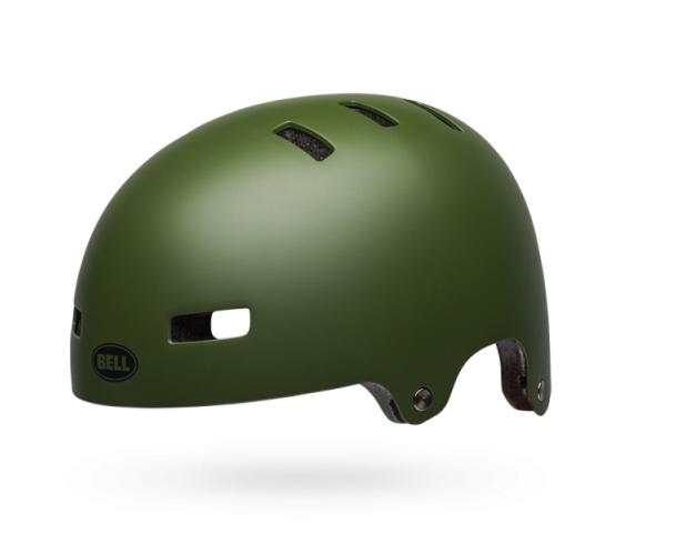 Шлем BMX детский Bell 18 BLOCK, матовый темно-зеленый (Размер: S)
