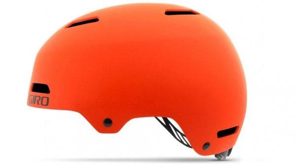 Шлем велосипедный Giro 17 QUARTER FS BMX, универсальный, матовый оранжевый (Размер: S)