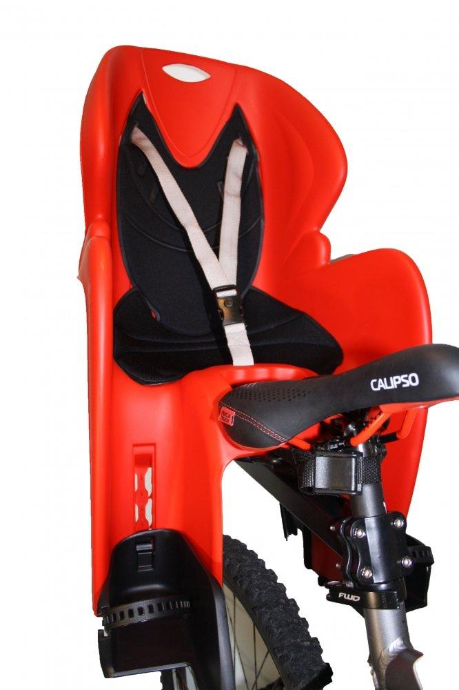 Кресло детское с креплением на багажник, красное с черной накладкой, до 22кг, Италия