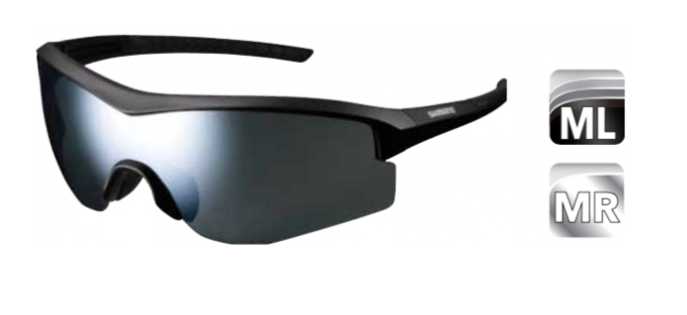 Велосипедные очки Shimano SPARK с цельно-панорамными линзами, матовый черный, ECESPRK1MRML
