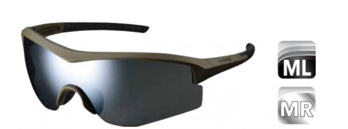 Велосипедные очки Shimano SPARK с цельно-панорамными линзами, оливковая оправа, ECESPRK1MRMG2