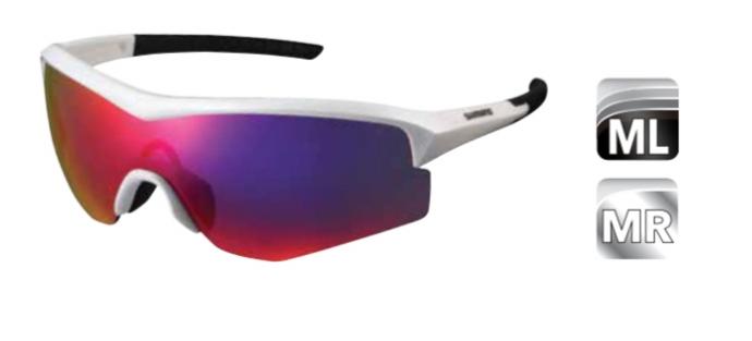 Велосипедные очки Shimano SPARK с цельно-панорамными линзами, белые, ECESPRK1MLKW
