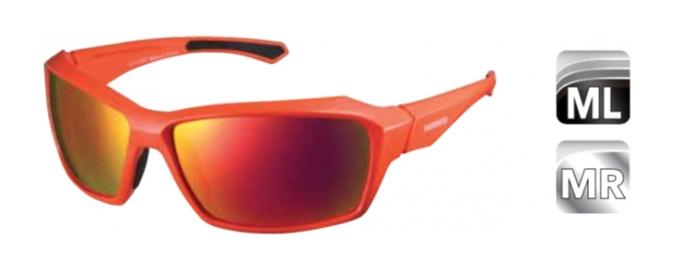 Велосипедные очки Shimano PULSAR, оранжево-красный MLC, ECEPLSR1MLD