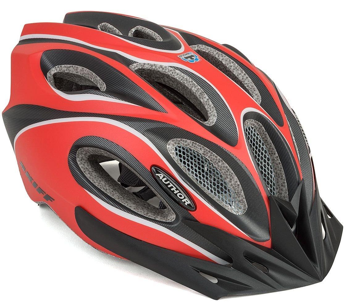 Велошлем AUTHOR INMOLD Skiff 172, красно-черный (Размер: 58-62см)