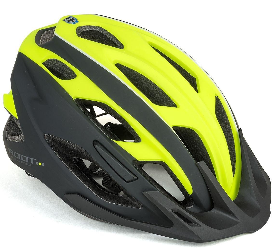 Велошлем AUTHOR Root 173, желто-черный (Размер: 53-59см)