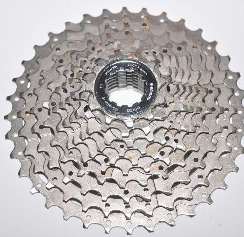 Кассета SHIMANO, 10 скоростей, KCSHG5010136, DEORE 10х11-36 Ni-Plat, серебро, 2-8035
