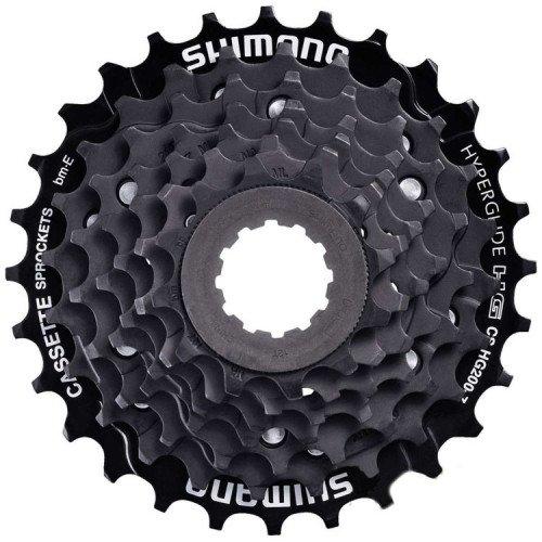 Кассета SHIMANO, 7 скоростей, ACSHG2007232 TOURNEY 7х12-32 UG/HG, черно-коричневый, 2-8016