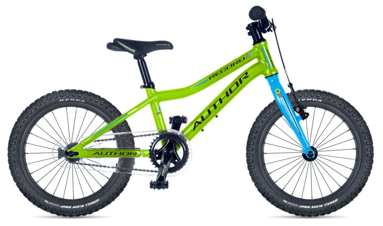 """Детский велосипед Author Record 16"""" 2019 (Рама: 9"""" (Рост 110 - 130 см), Цвет: зелено-черный)"""