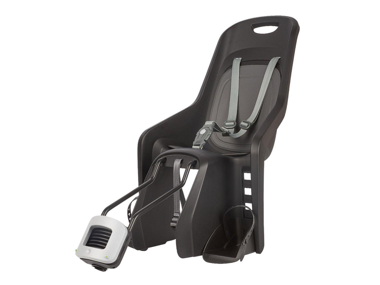 Детское велокресло AUTHOR Bubbly Maxi Plus FF на подседельный штырь, до 22кг, серо-черное, 8-1624025