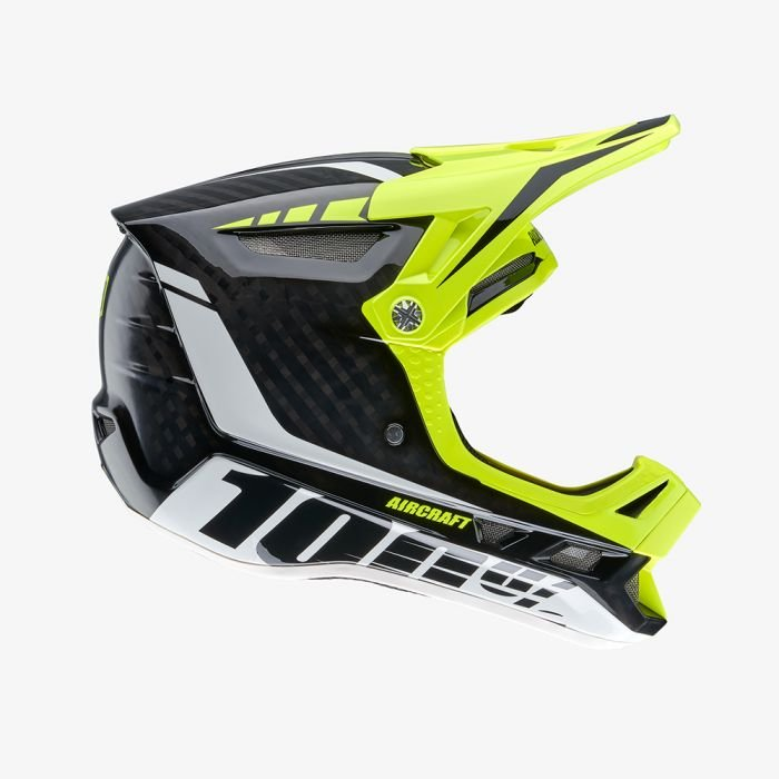 Велошлем 100% Aircraft DH Helmet Demo, черно-желтый 2018 (Размер: S (53 – 54 см))