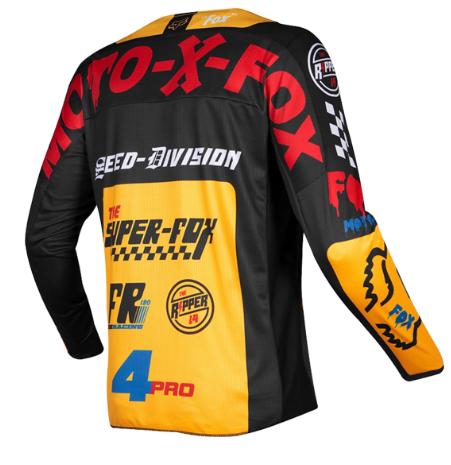 Велоджерси Fox 180 Czar Jersey, черно-желтый 2019 (Размер: M )
