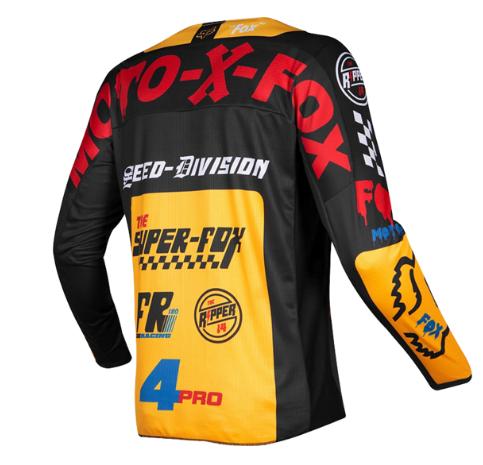 Велоджерси детская Fox 180 Czar Kids Jersey, черно-желтый 2019 (Размер: KM )