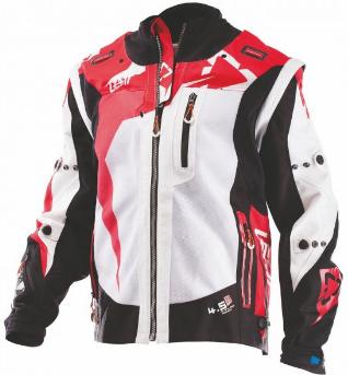 Велокуртка Leatt GPX 4.5 X-Flow Jacket, черно-красный 2018 (Размер: M )