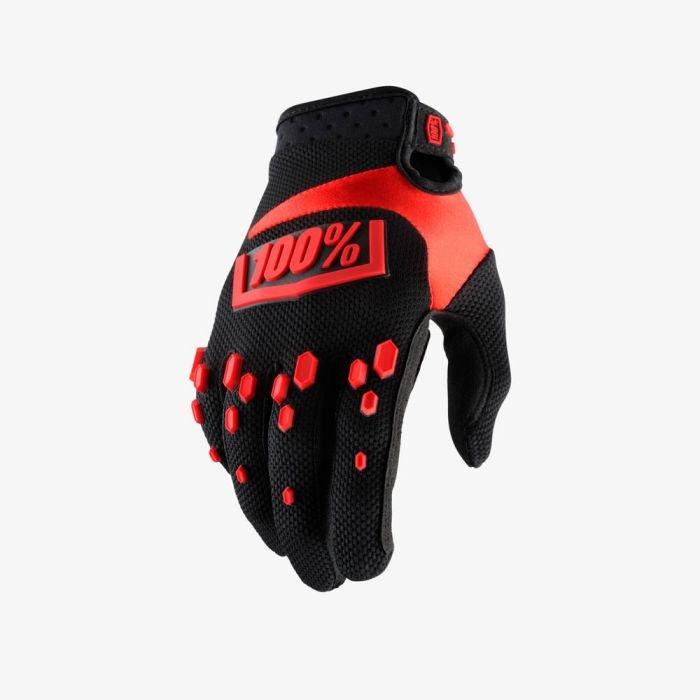 Велоперчатки 100% Airmatic Glove, черно-красный 2018 (Размер: S )