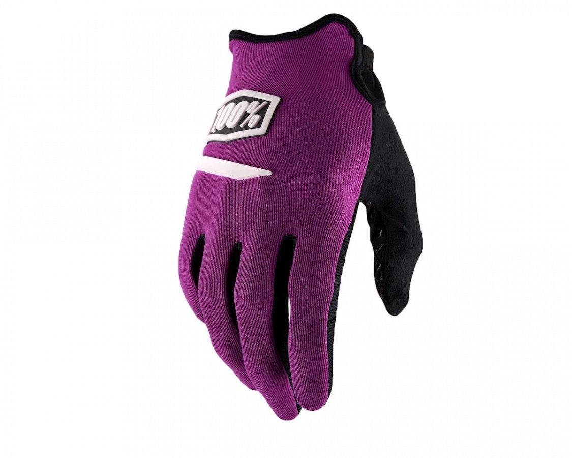 Велоперчатки 100% Ridecamp Glove, фиолетовый 2018 (Размер: S )