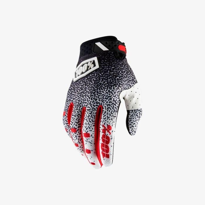 Велоперчатки 100% Ridefit Glove, черно-белый 2018 (Размер: M)