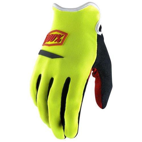 Велоперчатки женские 100% Ridecamp Women Glove, желтый 2018 (Размер: M)