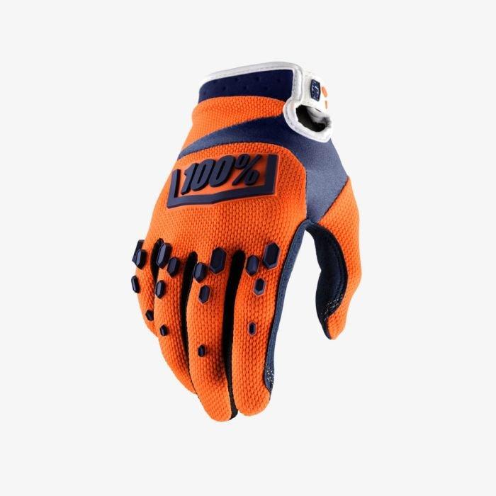 Велоперчатки подростковые 100% Airmatic Youth Glove, оранжево-синий 2018 (Размер: M )