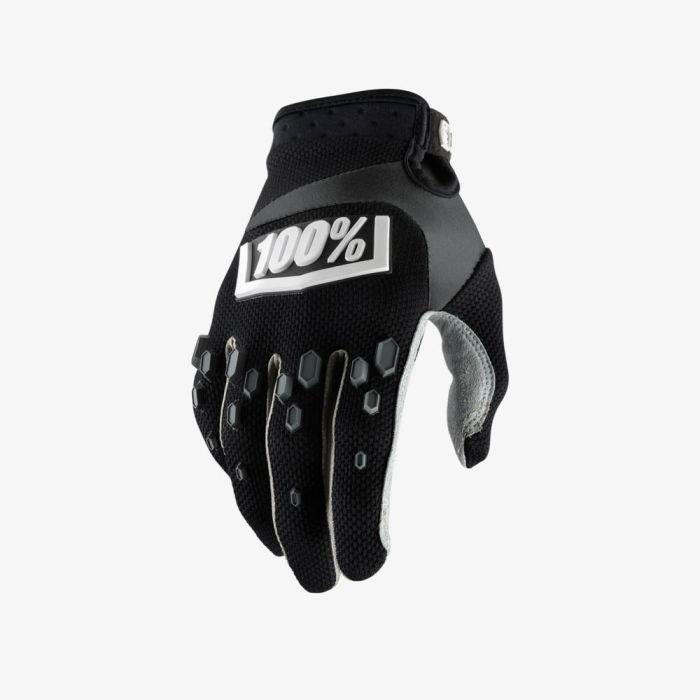 Велоперчатки подростковые 100% Airmatic Youth Glove, черный 2018 (Размер: L)