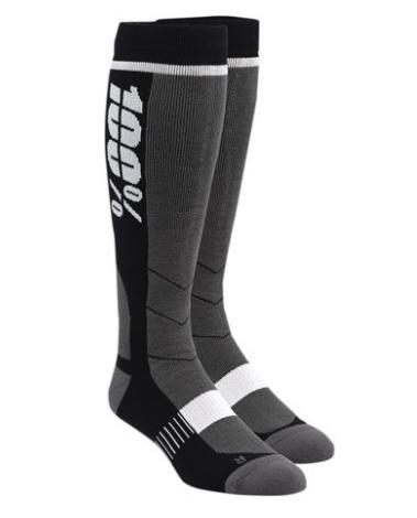 Носки 100% Hi-Side Performance Moto Socks, черный 2018 (Размер: L/XL)