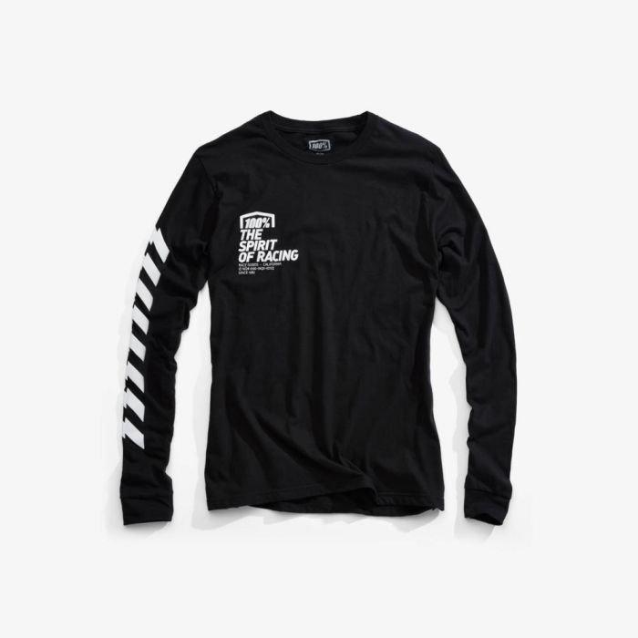 Футболка 100% Gideon LS Tee-Shirt, черный 2018 (Размер: L )