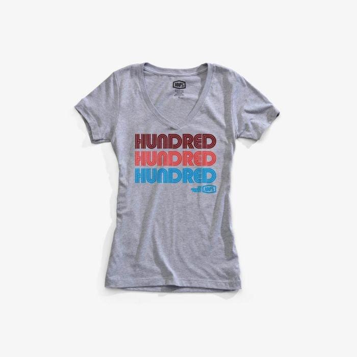 Футболка женская 100% Hundred Women Tee-Shirt Heather, серый 2018 (Размер: M )