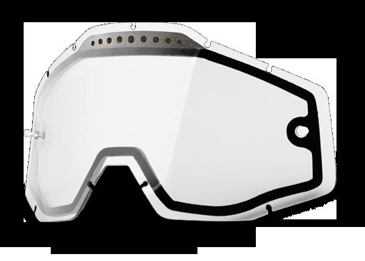 Линза 100% Racecraft/Accuri/Strata Vented Dual Pane Lens Anti-Fog Clear, 51006-010-02