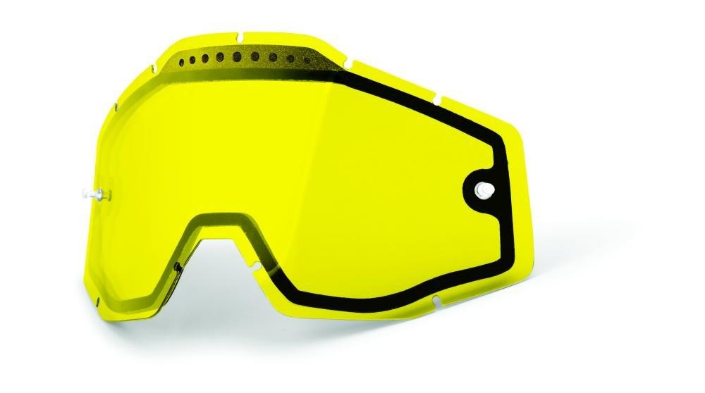 Линза 100% Racecraft/Accuri/Strata Vented Dual Pane Lens Anti-Fog Yellow, 51006-004-02