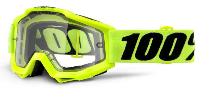 Веломаски 100% Accuri Enduro Fluo Yellow / Clear Dual Lens, 50202-004-02