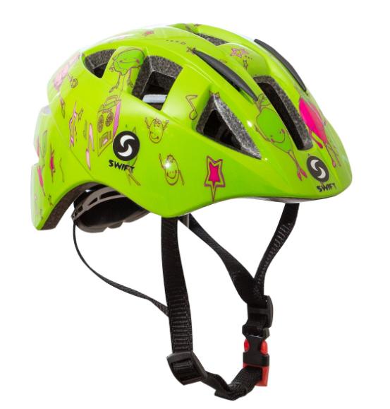 Велошлем детский SwiftBikes 11, зеленый, SWHSGR (Размер: 48-52см)