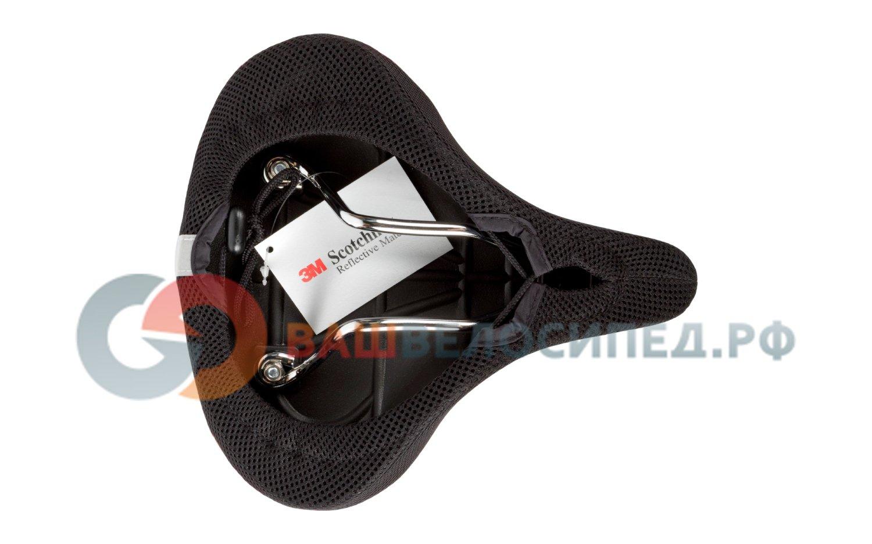 Велоседло SELLE AERO 255x235мм, с воздушной подушкой для E-велосипедов, черное FCS-9801-S1