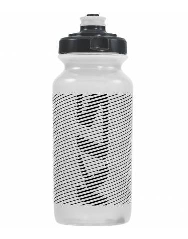 Фляга велосипедная KLS MOJAVE обьём 0,5л, для напитков без СО2, до 40°С, вес 68г, белая прозрачная