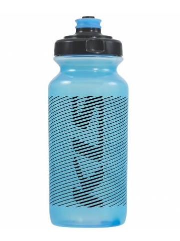 Фляга велосипедная KLS MOJAVE обьём 0,5л, для напитков без СО2, до 40°С, вес 68г, синяя прозрачная
