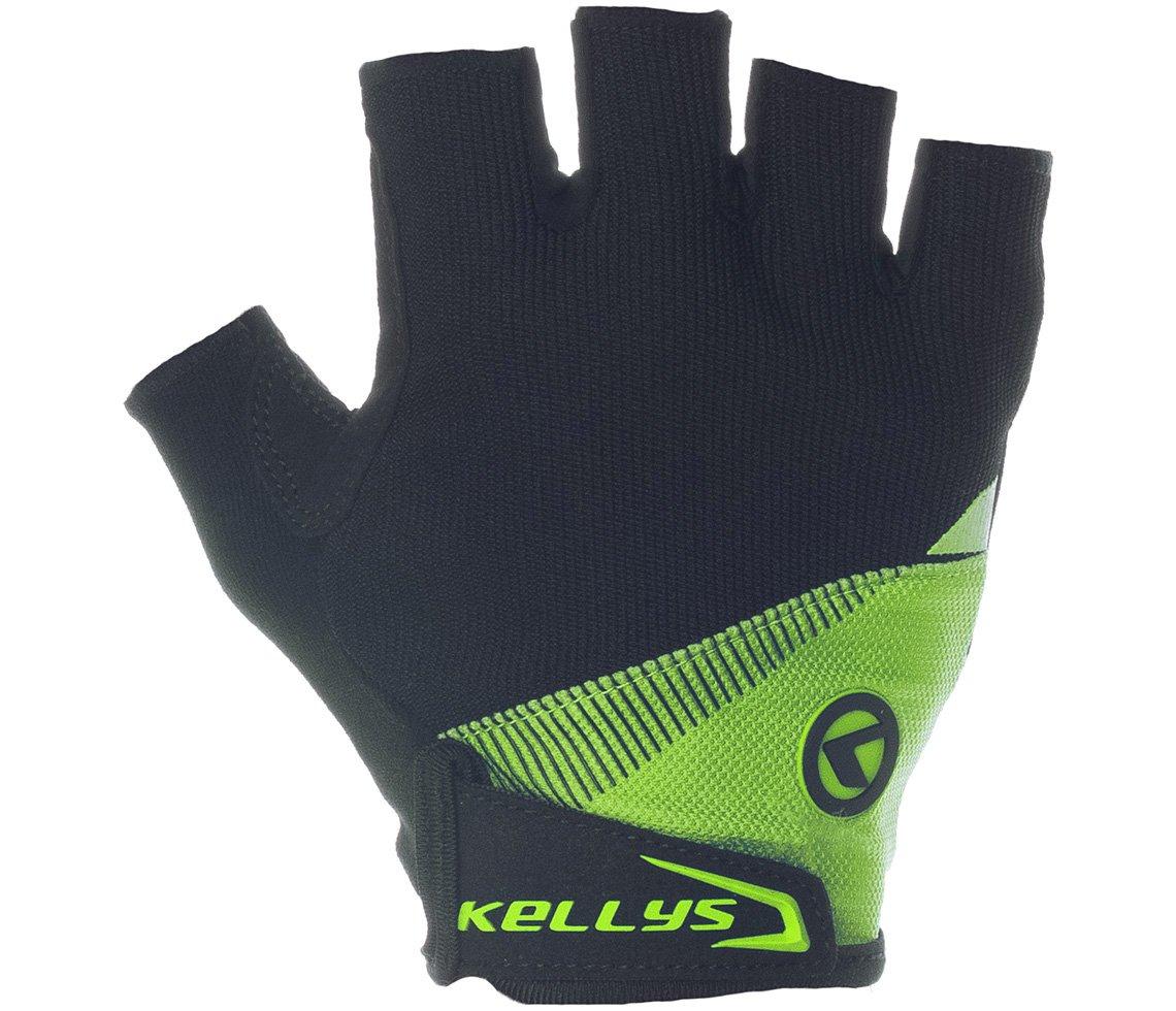 Перчатки велосипедные KELLYS COMFORT без пальцев, салатовые (Размер: S)