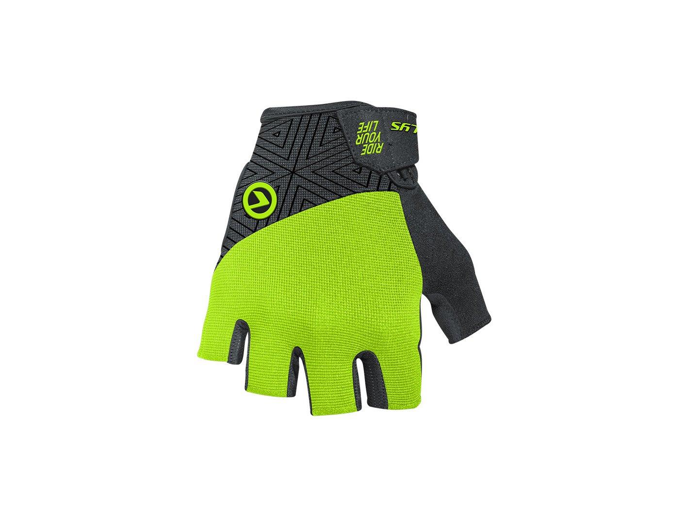 Перчатки велосипедные HYPNO Short, салатовый (Размер: S)