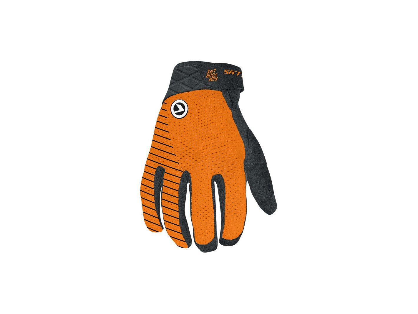 Перчатки велосипедные RELIC Long, оранжевый  (Размер: M)