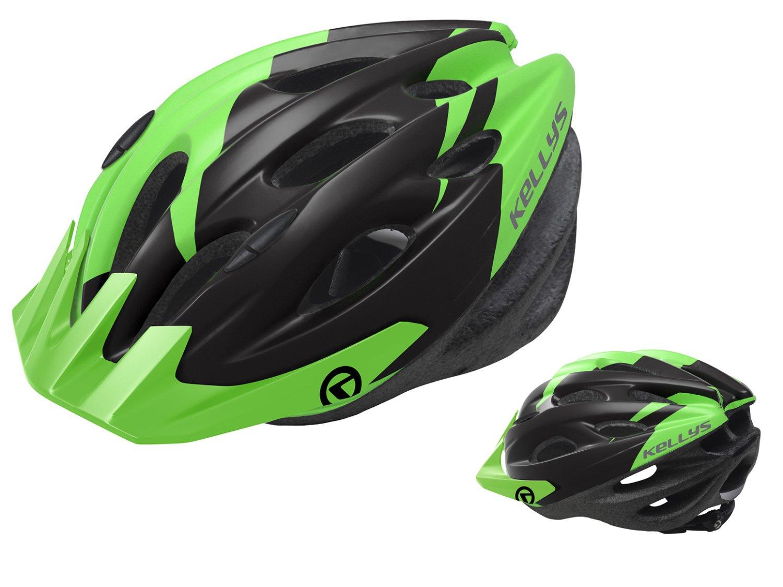 Шлем велосипедный KELLYS BLAZE для MTB-XC, матовый зелёный (Размер: S/M (54-57см))