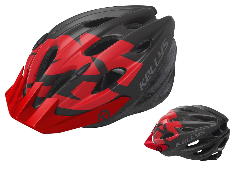 Шлем велосипедный KELLYS BLAZE для MTB-XC, матовый красный (Размер: S/M (54-57см))