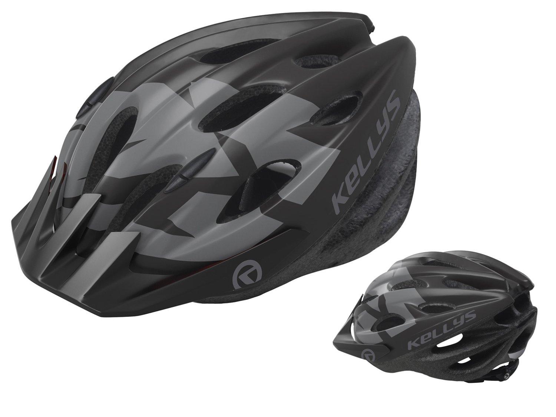 Шлем велосипедный KELLYS BLAZE для MTB-XC, матовый чёрный, (Размер: M/L (58-64см))