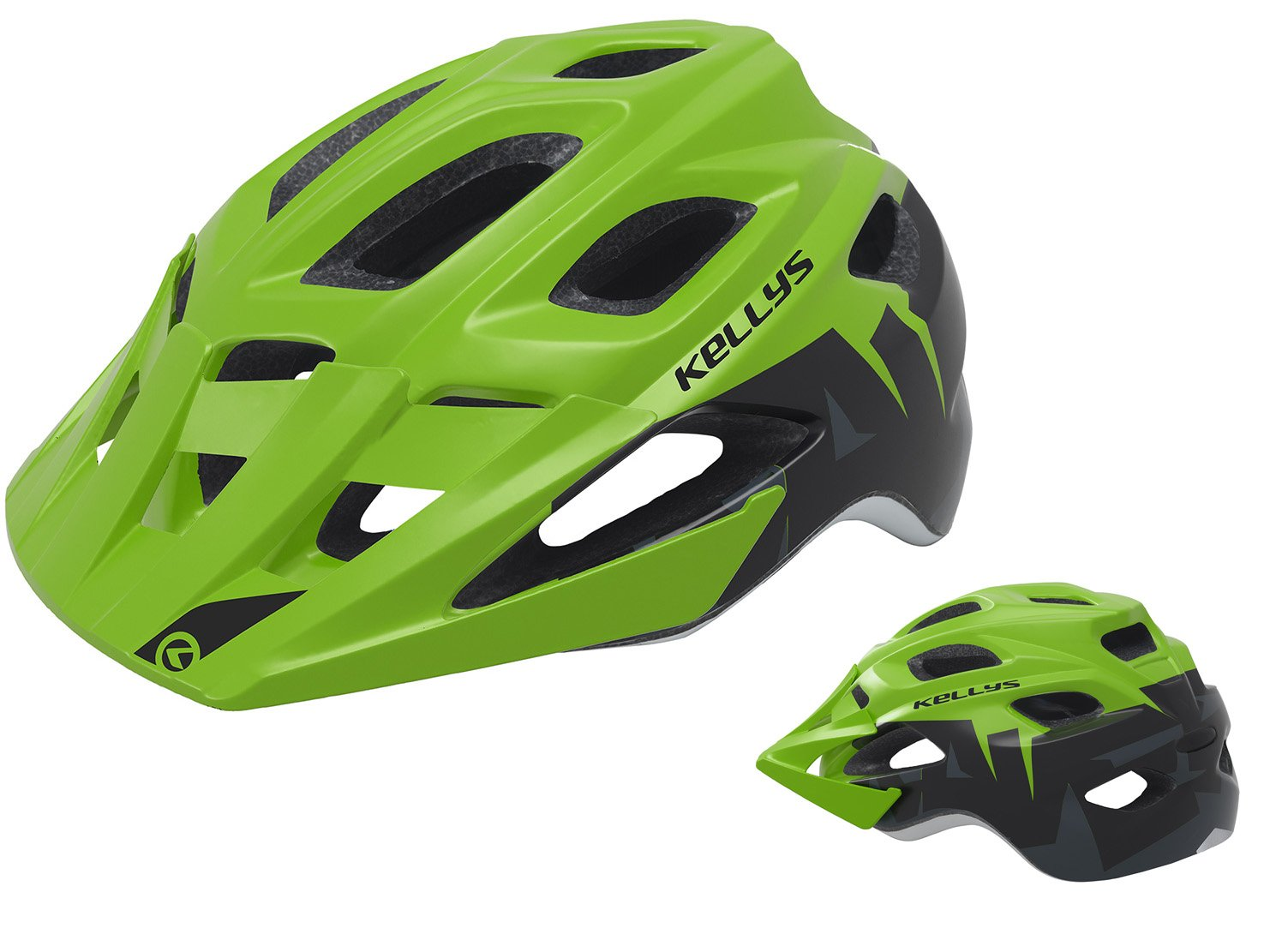 Шлем велосипедный KELLYS RAVE для MTB, матовый зелёный (Размер: M/L (60-64см))
