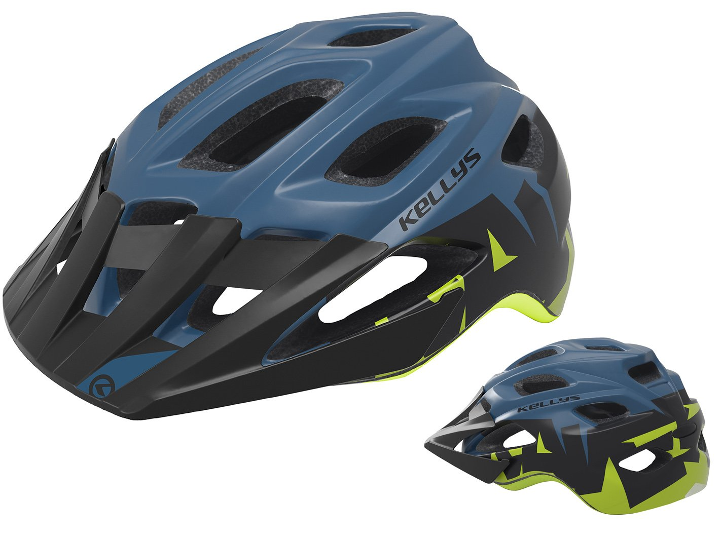Шлем велосипедный KELLYS RAVE для MTB, матовый синий (Размер: M/L (60-64см))