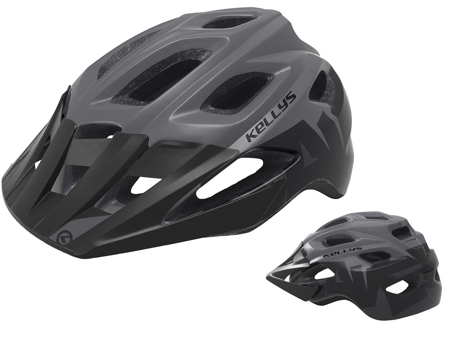 Шлем велосипедный KELLYS RAVE для MTB, матовый чёрный (Размер: S/M (55-61см))