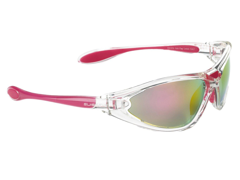 Очки велосипедные SWISSEYE Constance спортивные, оправа прозрачно-розовая, 12092