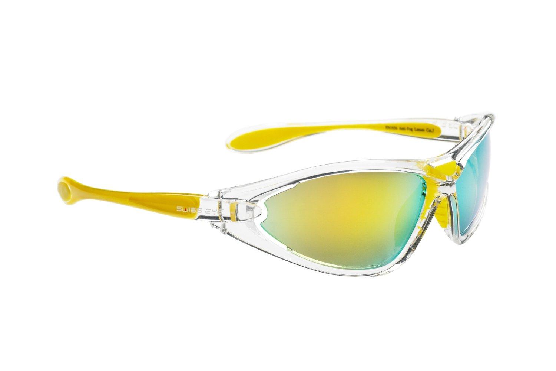 Очки велосипедные SWISSEYE Constance спортивные, оправа прозрачно-жёлтая, 12090