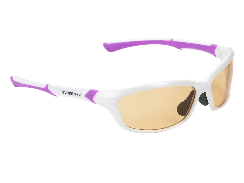 Очки велосипедные SWISSEYE Drift спортивные: оправа жемчужно-белый/пурпурный, 12073