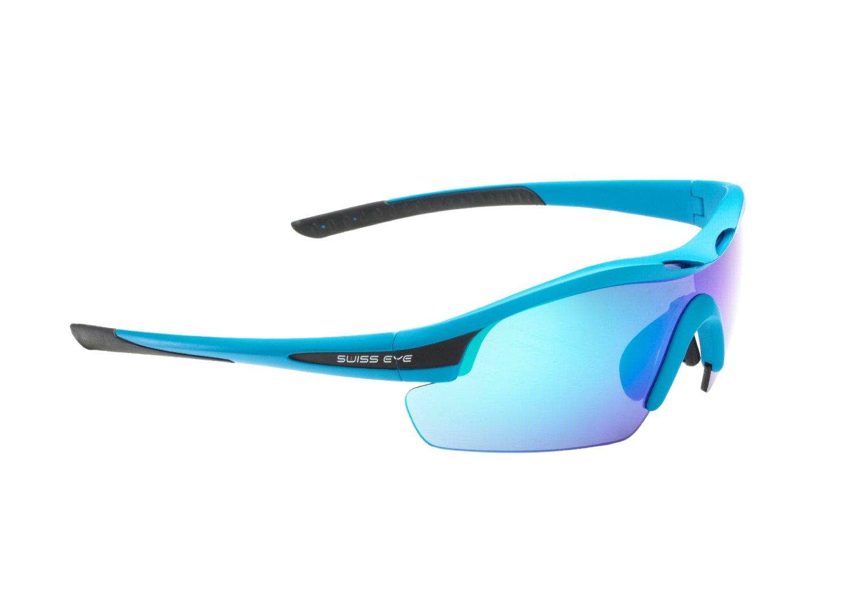 Очки велосипедные SWISSEYE Novena спортивные: оправа синяя матовая-чёрная, 12467